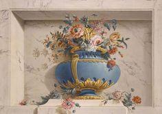 FRENCH SCHOOL Vase of flowers in Niche - Michael Bruno Bellenge