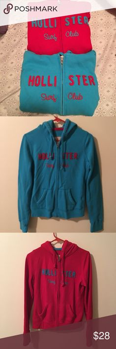 Hollister sweater bundle Hollister sweater bundle. The colors are a baby blue and red. These are gently used. In great conditions. Both are size medium. The prize is for both sweaters. These are perfect for the fall season. Hollister Sweaters