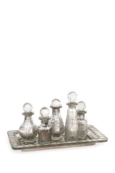 Macaire Mini Bottles with Tray - Set of 6 on HauteLook