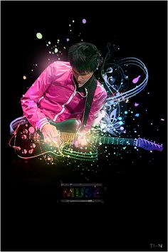 ✯ Muse Colors by ~Ti-n ✯ print for Jam room:) Butterflies And Hurricanes, Matthew Bellamy, Bass, Guitar Photos, Muse Art, Music Film, Motown, Kinds Of Music, Listening To Music
