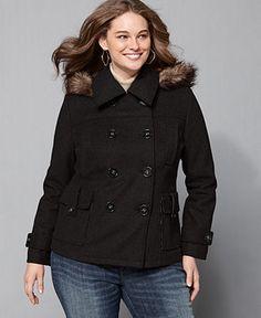 womens plus size pea coat | winter fashion | pinterest | coats