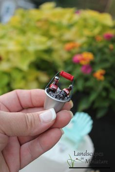 Miniature Cokes and Ice Bucket
