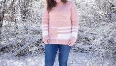 Easy Crochet Pullover- Free Crochet Pattern A Purpose and A Stitch Crochet Cardigan Pattern, Crochet Patterns, Easy Crochet, Free Crochet, Half Double Crochet Decrease, Crochet Clothes, Crochet Sweaters, Crochet Stitches, Purpose