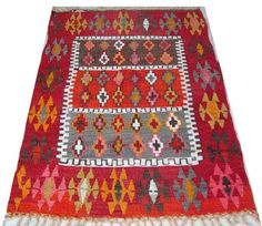 Vintage Turkish Kilim Rug Carpet Handwoven Kilim Rug by chicethnic, $200.00