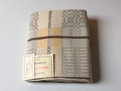 Vintage Swedish tablecloth / Woven linen / cotton Dala dräll