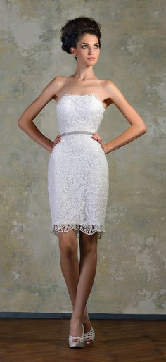 short lace wedding dress with boots instead of heals