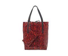 Bolso de hombro con diseño de pitón Antoinette - rojo