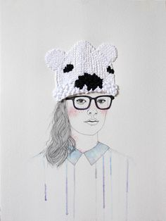 Fashion illustrations with embroidered accessories to keep the cold at bay | Creative Boom