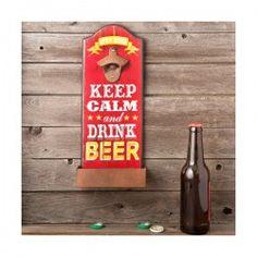 "ABRIDOR DE BOTELLAS DE PARED ""KEEP CALM"" Keep Calm And Drink, Bottle Opener, Barware, Beer, Drinks, Wall, Barcelona, Vintage, Inexpensive Gift"
