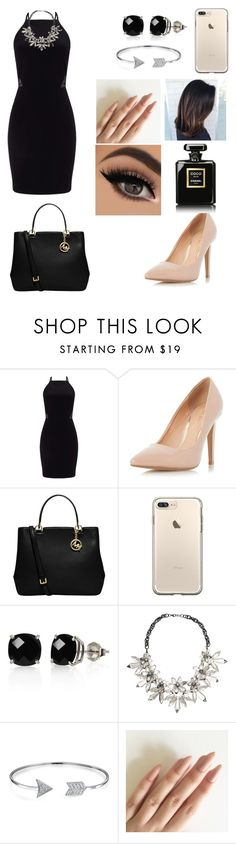 """Untitled #538"" by azeneth10 ❤ liked on Polyvore featuring Miss Selfridge, Dorothy Perkins, MICHAEL Michael Kors, Belk & Co., John Lewis, Bling Jewelry and Chanel"