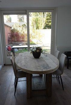 Esstisch oval Eiche Tischplatte, Tisch oval Massivholz, Länge 220 cm ...