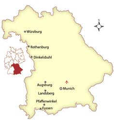 The Romantic Road Is One Of The Best Tourist Attractions In - Germany map romantic road