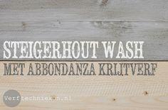 steigerhout vergrijzen met Abbondanza krijtverf