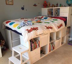 IKEA kallax hack IKEA kallax hack IKEA kallax hack The post IKEA kallax hack appeared first on Stauraum ideen. The post IKEA kallax hack appeared first on Bett ideen. Bedroom Hacks, Ikea Bedroom, Bedroom Decor, Bedroom Ideas, Ikea Kallax Hack, Ikea Storage Bed Hack, Storage Hacks, Bedroom Storage, Kids Room Furniture