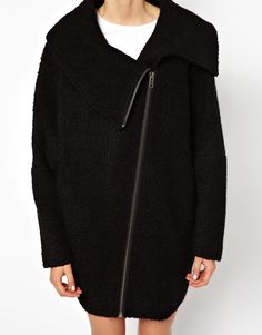 Female Wool Zip Coat