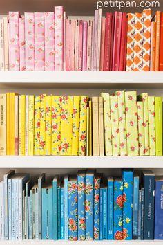 Les papiers Petit Pan décorent, enveloppent des cadeaux, peuvent aussi recouvrir des livres.
