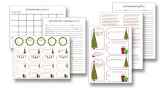 101 Days of Christmas - free holiday treat ebook and organization printables