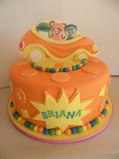 Team Umizoomi themed birthday cake. Topper is hand-cut fondant/gumpaste.