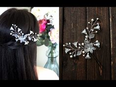 (2) How to make Hair Pin Pearls and Lilies Flowers Hair Vind Headpiece EASY DIY - YouTube