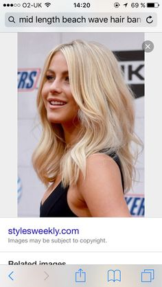 Soft bouncy blonde hair mid length
