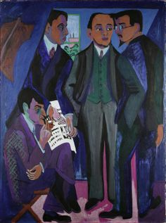 Ernst Ludwig Kirchner, A Group of Artists, 1925-26