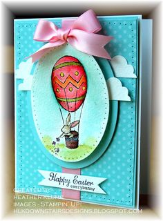 Everybunny ; Easter ; Spellbinders Nest. Classic ovals ; Fiskars cloud punches