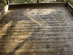 Stamped Wood Plank Concrete Patios (J Concrete, Uniontown, OH)