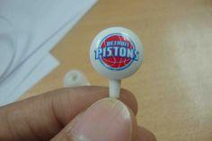 Detroit Pistons Earphones - Events gift for fans.  OEM MOQ=1000pcs  Make your own brand on it now. Ask Matthew (matthewt@kingsunproduction.com) for more information and best quote.  Kingsun Earphones