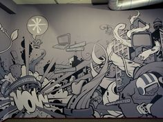Qurius mural by Wall Dizzy , via Behance
