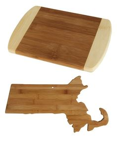 Loving this Massachusetts State Bamboo Cutting & Serving Board on #zulily! #zulilyfinds