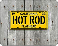 HOT ROD License Plate Sign