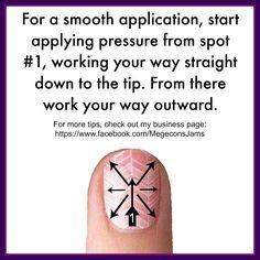 Jamberry Nail Wraps. Application method.