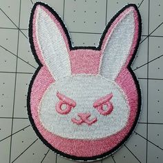 D.VA Bunny Overwatch Inspired Embroidered by GeekLifeEmbroidery