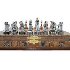 Classic Antique Copper Chess Set Handmade Pieces Natural | Etsy Copper Metal, Antique Copper, Wood Chess Board, Chess Set Unique, Pearl Design, Chess Pieces, Decorative Boxes, Antiques, Natural