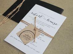 Simple black and white invitations