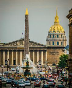 Paris France - Concorde Plaza Paris with Dome de Invalides Free Man In Paris, I Love Paris, Concorde, Paris Travel, France Travel, Paris France, Paris Paris, Tour Eiffel, Rue Rivoli
