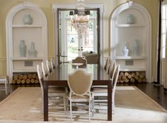 Dining room:  built-ins; paint color; wood storage