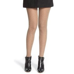 Nordstrom 'Love' Open Knit Tights ($19) ❤ liked on Polyvore featuring intimates, hosiery, tights, taupe, nordstrom tights, nordstrom pantyhose and nordstrom hosiery