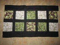 Manteles de patchwork: Fotos de diseños - Modelo de mantel de patchwork para copiar
