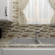 Shop for Somertile Reflections Piano Nassau Stone and Glass Mosaic Tiles (Pack of 5). Get free delivery at Overstock.com - Your Online Home Improvement Shop! Get 5% in rewards with Club O!