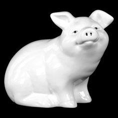 Urban Trends Painted Face Ceramic Pig Sculpture - 28583