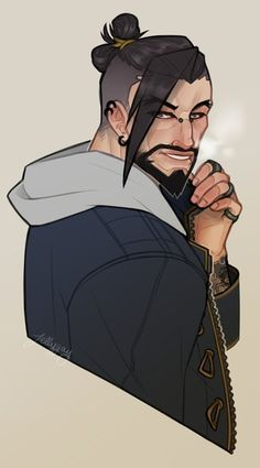 Happy Hanzo by Jellygay on DeviantArt Overwatch Hanzo, Overwatch Comic, Hanzo Shimada, Paladin, Game Art, Cool Art, Character Design, Fictional Characters, Clear Card