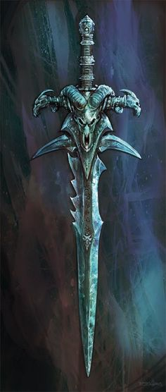 Illustration de Brian Huang Dragon Sword, Ice Dragon, World Of Warcraft Wallpaper, Archangel Tattoo, Cool Swords, Lich King, Sword Tattoo, Death Knight, Weapon Concept Art