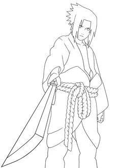 Naruto cartoon coloring pages for kids, printable free