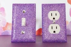 Amazon.com: SET of AMETHYST GLITTER Switch Plate / Outlet Covers Any Styles: Home Improvement