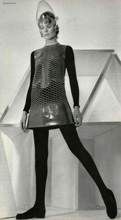 womens 1960s vintage clothing-Pierre Cardin and Space Fashion
