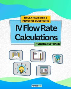 Welcome to your free NCLEX reviewer and practice questions quiz for IV flow rate calculations and formula. The goal of this quiz is to help student nurses review and test their competence in intravenous flow rate calculation. Nursing Exam, Nursing Math, Nursing School Notes, Cardiac Nursing, Nursing Tips, Nursing Students, Nclex Questions, Nclex Practice Questions, 100 Questions
