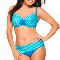 Curvy Kate Marina Fold Bikini Briefs - Aqua Print. Available in sizes (If  items are not available c063e17f209