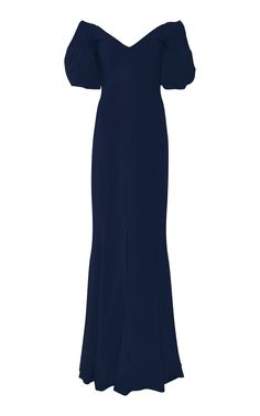 Off-The-Shoulder Textured Gown by ELIZABETH KENNEDY Now Available on Moda Operandi