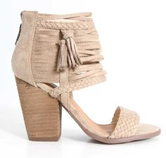 Not Rated Shoes Rosella Strappy High Heels in Cream